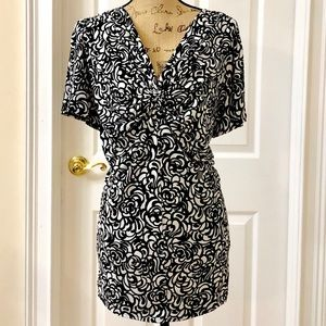 Lane Bryant scroll print blouse